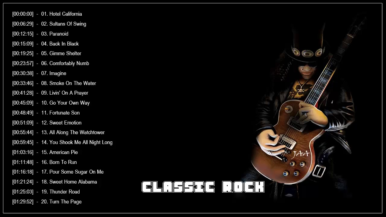 Best Rock Songs Of All Time | Greatest Classic Rock Songs