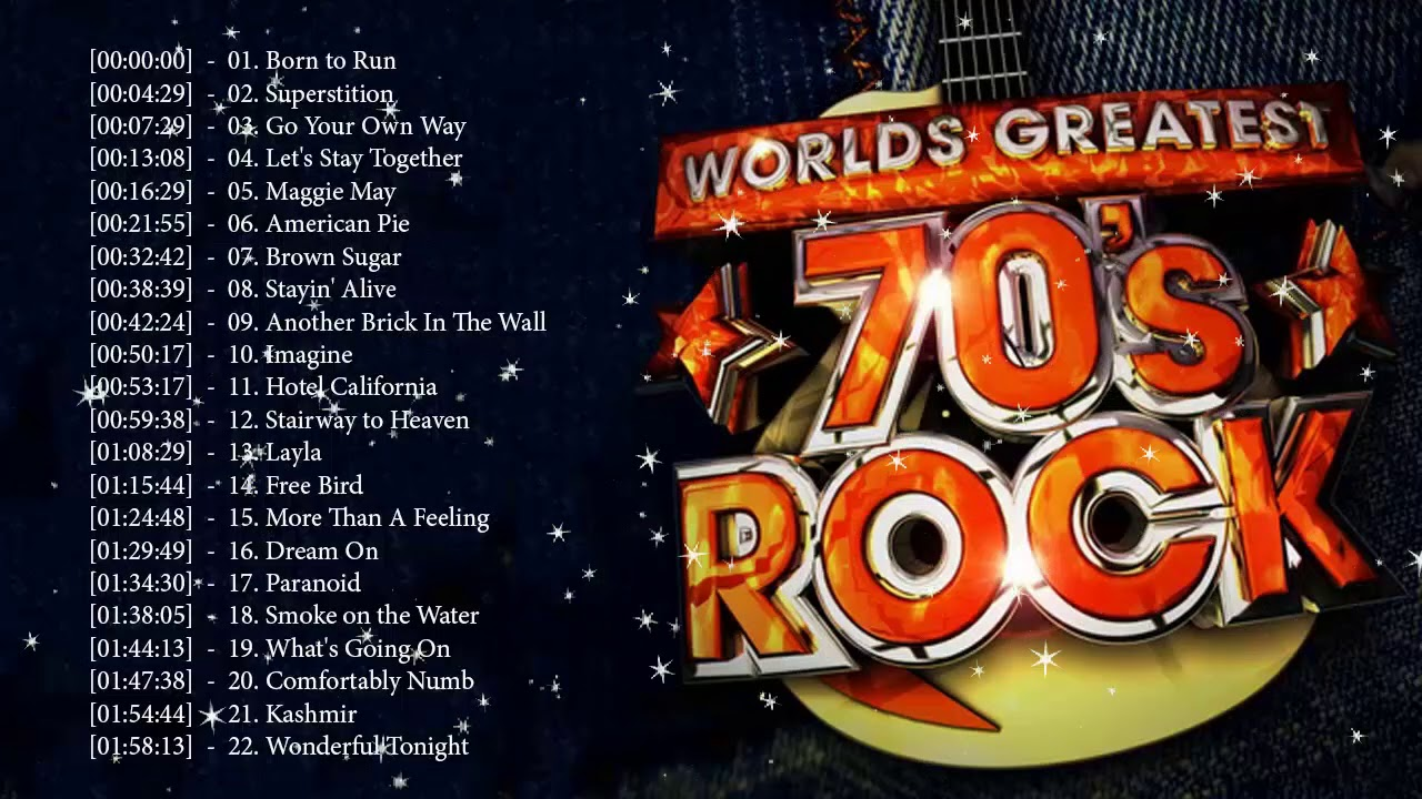 Best Of Rock 70s ♪ღ♫ 70's Rock Song Greatest Hits ♪ღ